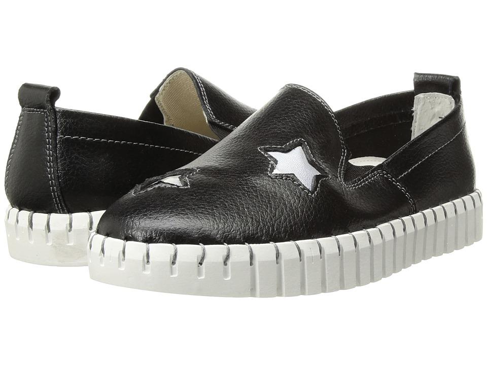 bernie mev. Kids - Twk37 (Little Kid/Big Kid) (Black/Silver Stars) Girls Shoes