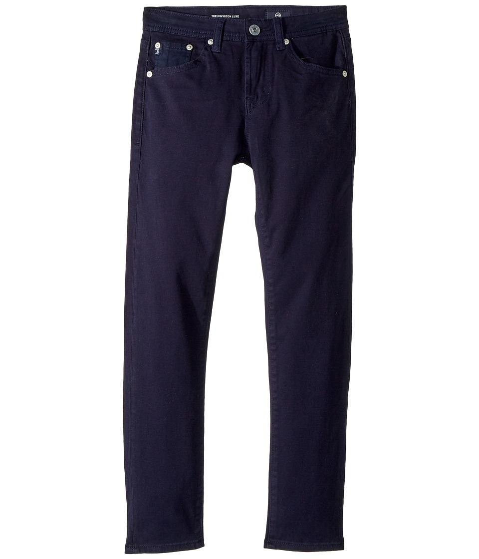 AG Adriano Goldschmied Kids - The Kingston Luxe Slim Skinny Sueded Twill in Blue (Big Kids) (Blue) Boys Jeans