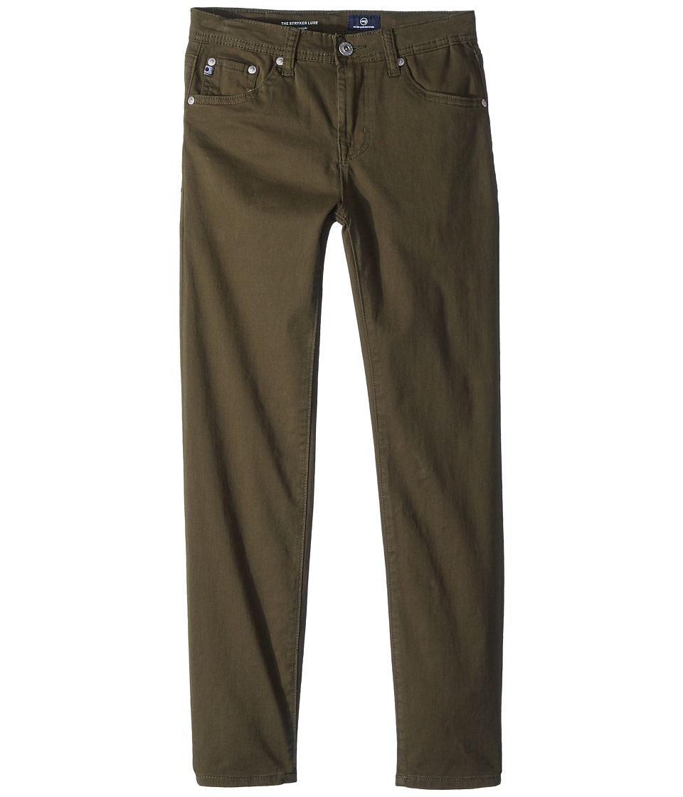 AG Adriano Goldschmied Kids - The Stryker Luxe Slim Straight Sueded Twill in Green Flash (Big Kids) (Green Flash) Boys Jeans