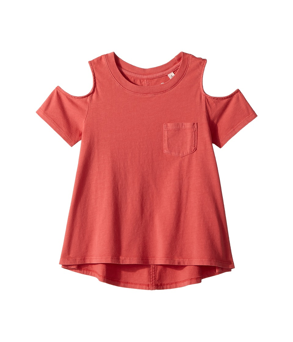 AG Adriano Goldschmied Kids - Tess Cold Shoulder Top (Toddler) (Flame) Girls Clothing