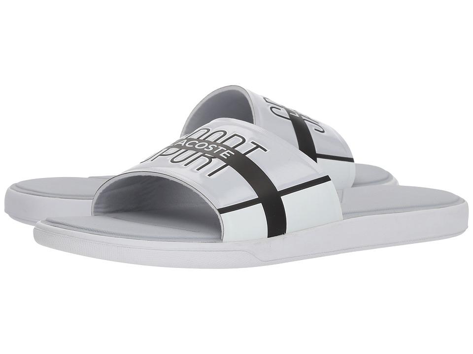 Lacoste L.30 Slide 218 2 (Light Grey/White) Men's Slide S...