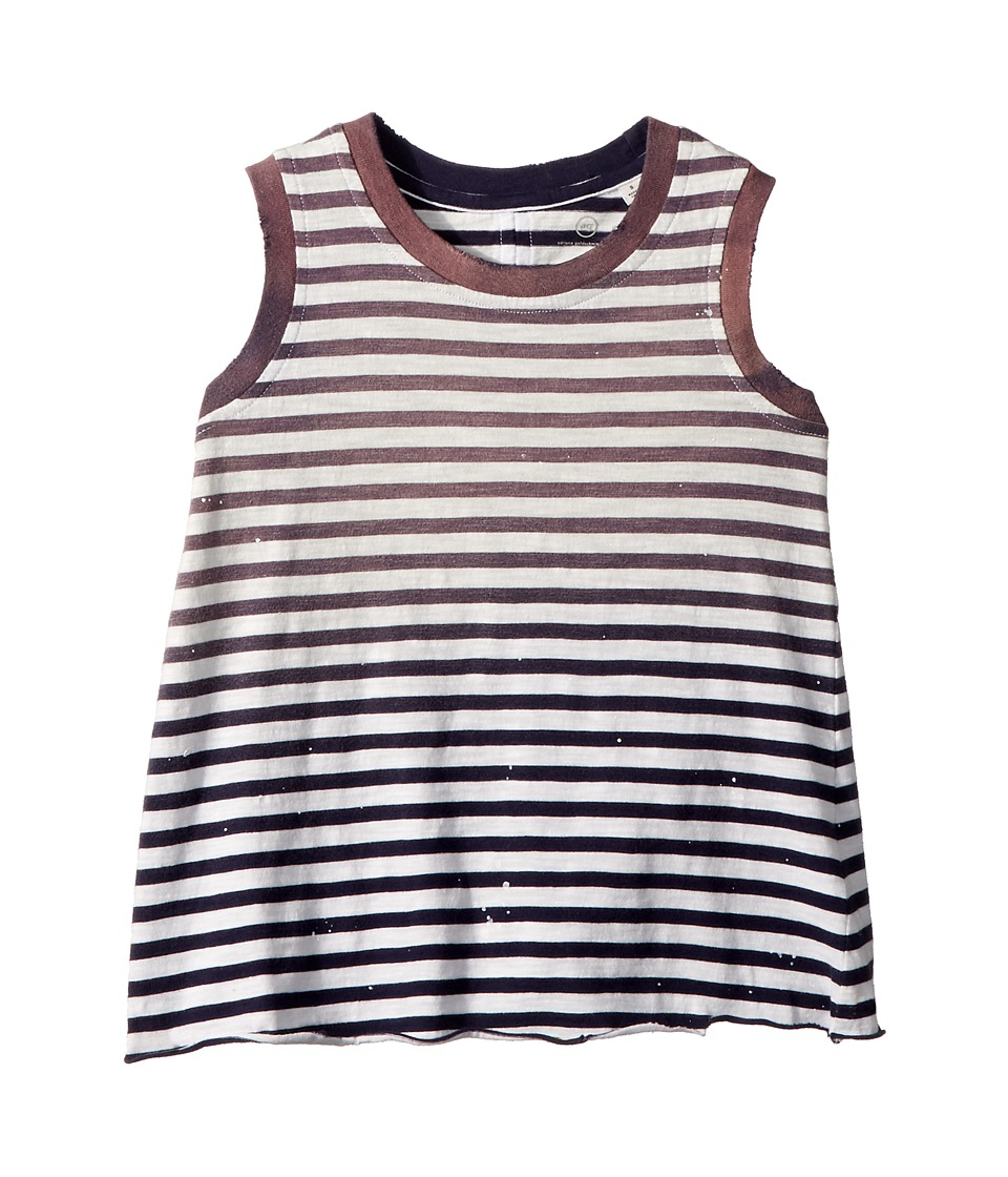 AG Adriano Goldschmied Kids - Nixie Stripe Tank Top (Infant) (Muddy Blue) Girls Clothing