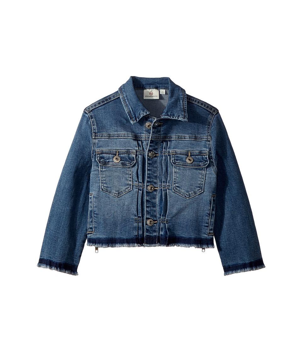 AG Adriano Goldschmied Kids - Daize Zipper Crop Jacket (Big Kids) (Jewel Blue) Girls Coat