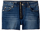 AG Adriano Goldschmied Kids The Bruna Fray Hem Zipper Shorts (Big Kids)