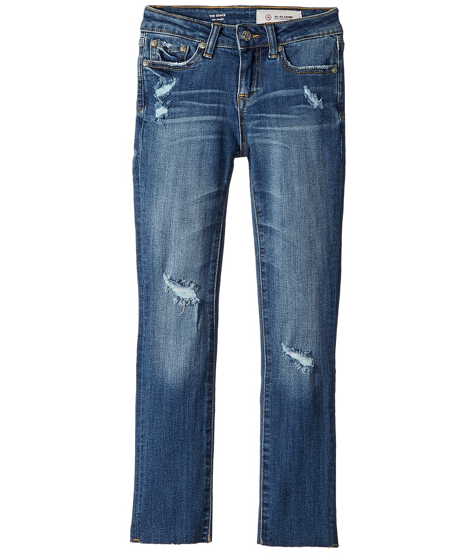 AG Adriano Goldschmied Kids - The Grace Slim Straight in Vintage Blue (Big Kids) (Vintage Blue) Girls Jeans