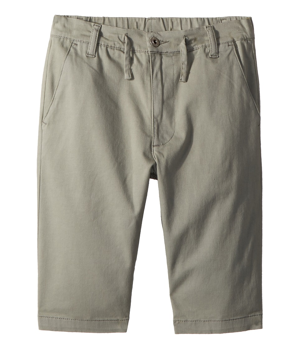 AG Adriano Goldschmied Kids - The Finn Sueded Twill Pull-On Shorts (Big Kids) (Light Grey) Boys Shorts