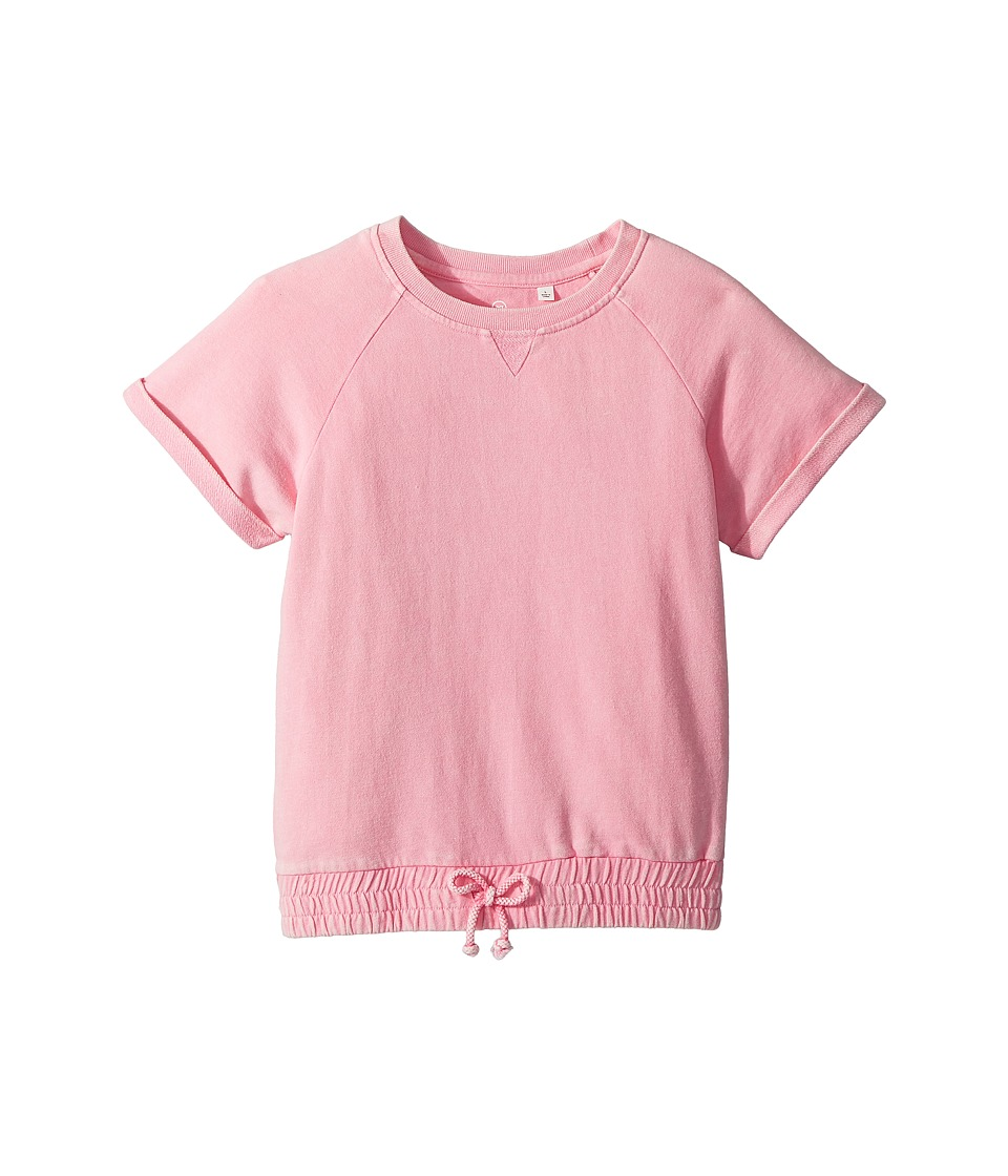 AG Adriano Goldschmied Kids - Cheri Cinched Crewneck Top (Big Kids) (Rose Petal) Girls Clothing