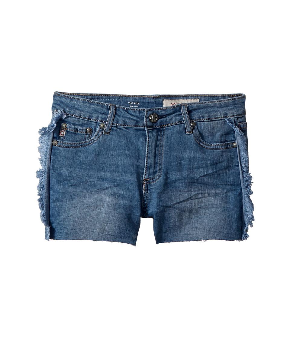 AG Adriano Goldschmied Kids - The Azul Fray Hem Piecing Shorts (Big Kids) (High Road) Girls Shorts