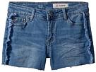 AG Adriano Goldschmied Kids The Azul Fray Hem Piecing Shorts (Big Kids)