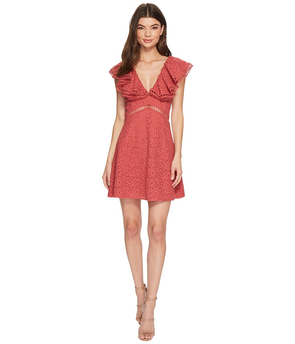 KEEPSAKE THE LABEL - Unravelled Mini Dress (Mineral Red) Womens Dress
