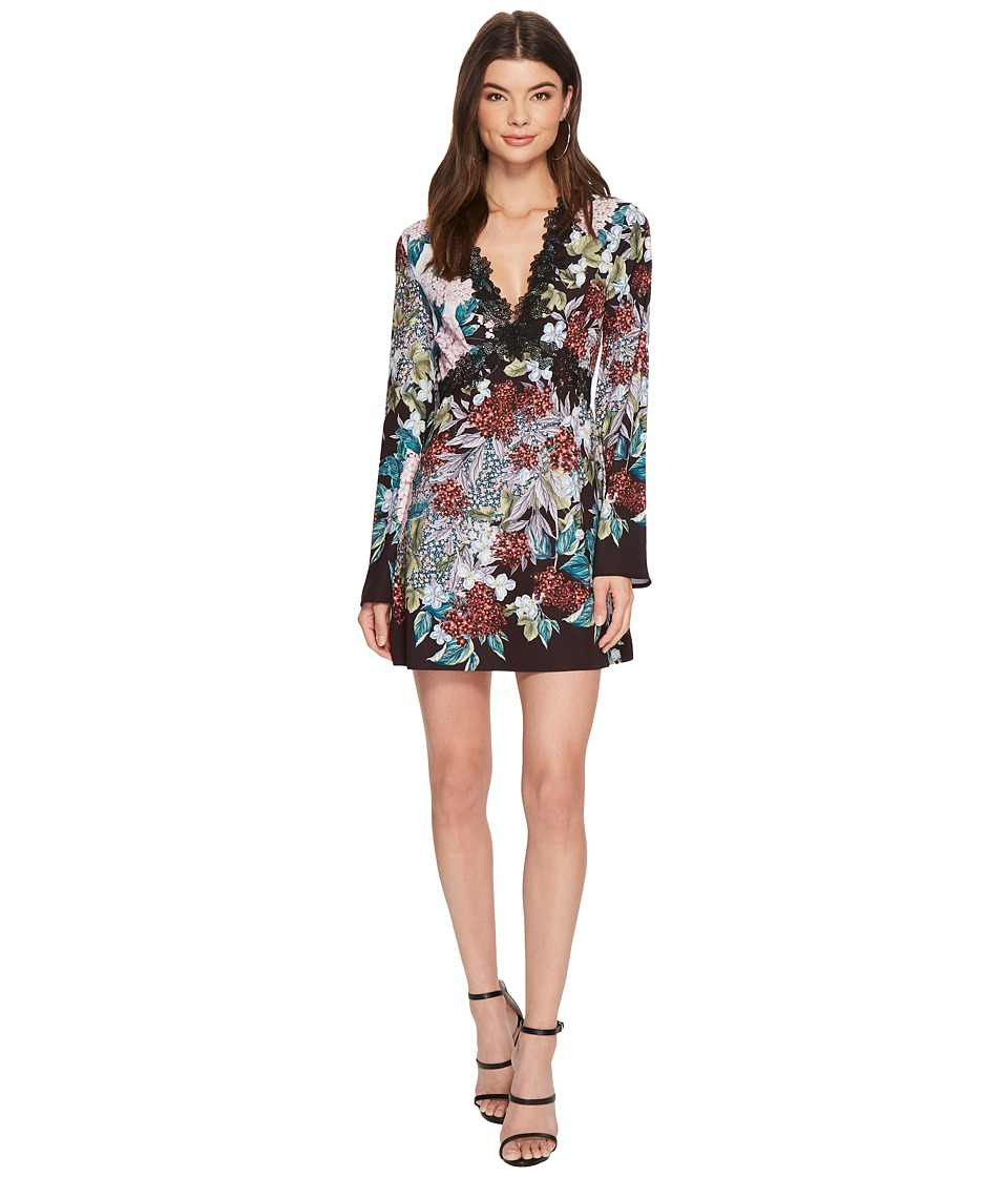 KEEPSAKE THE LABEL - Lost Dreams Long Sleeve Mini Dress (Multi Floral) Womens Dress