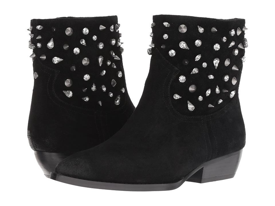 Sam Edelman Avril (Black Velutto Suede Leather) Women's Shoes