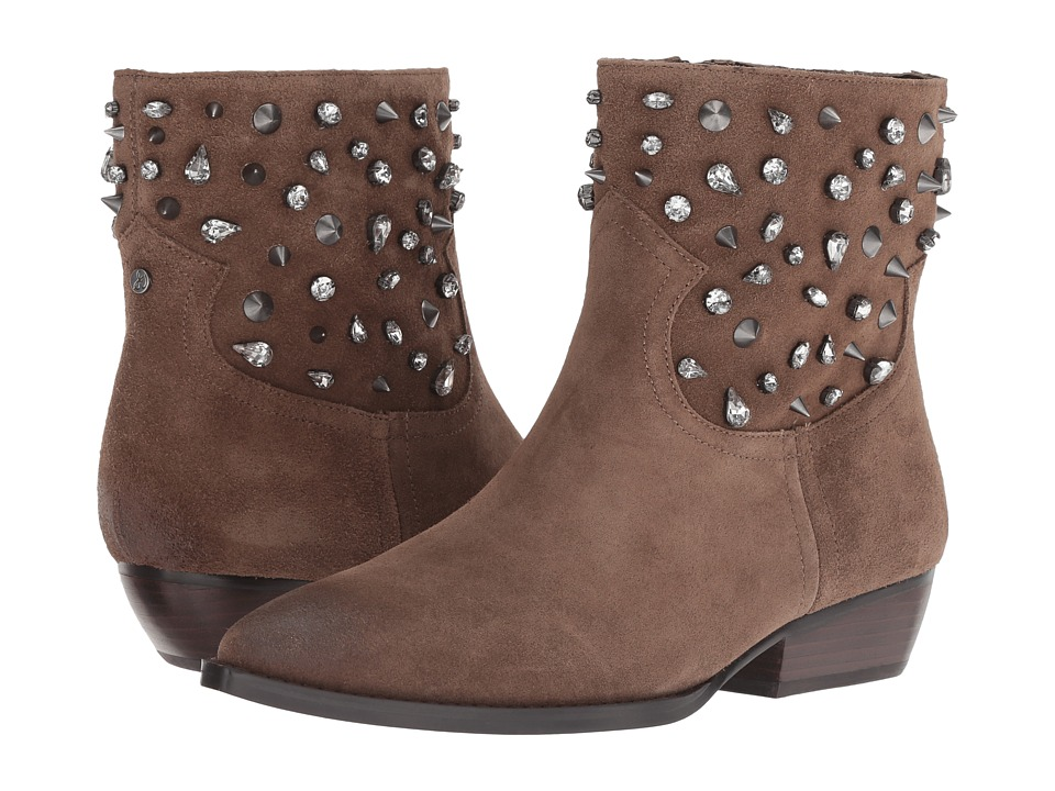 Sam Edelman Avril (Dark Taupe Velutto Suede Leather) Women's Shoes