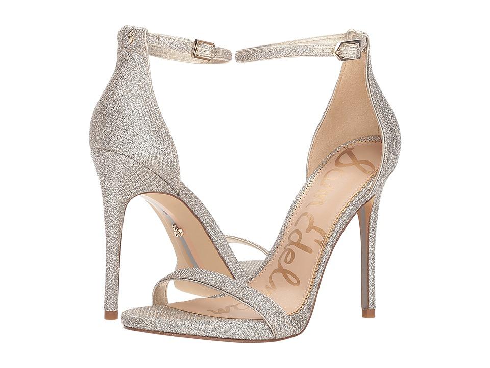 Sam Edelman Ariella Strappy Sandal Heel (Jute Glam Mesh) Women's Shoes
