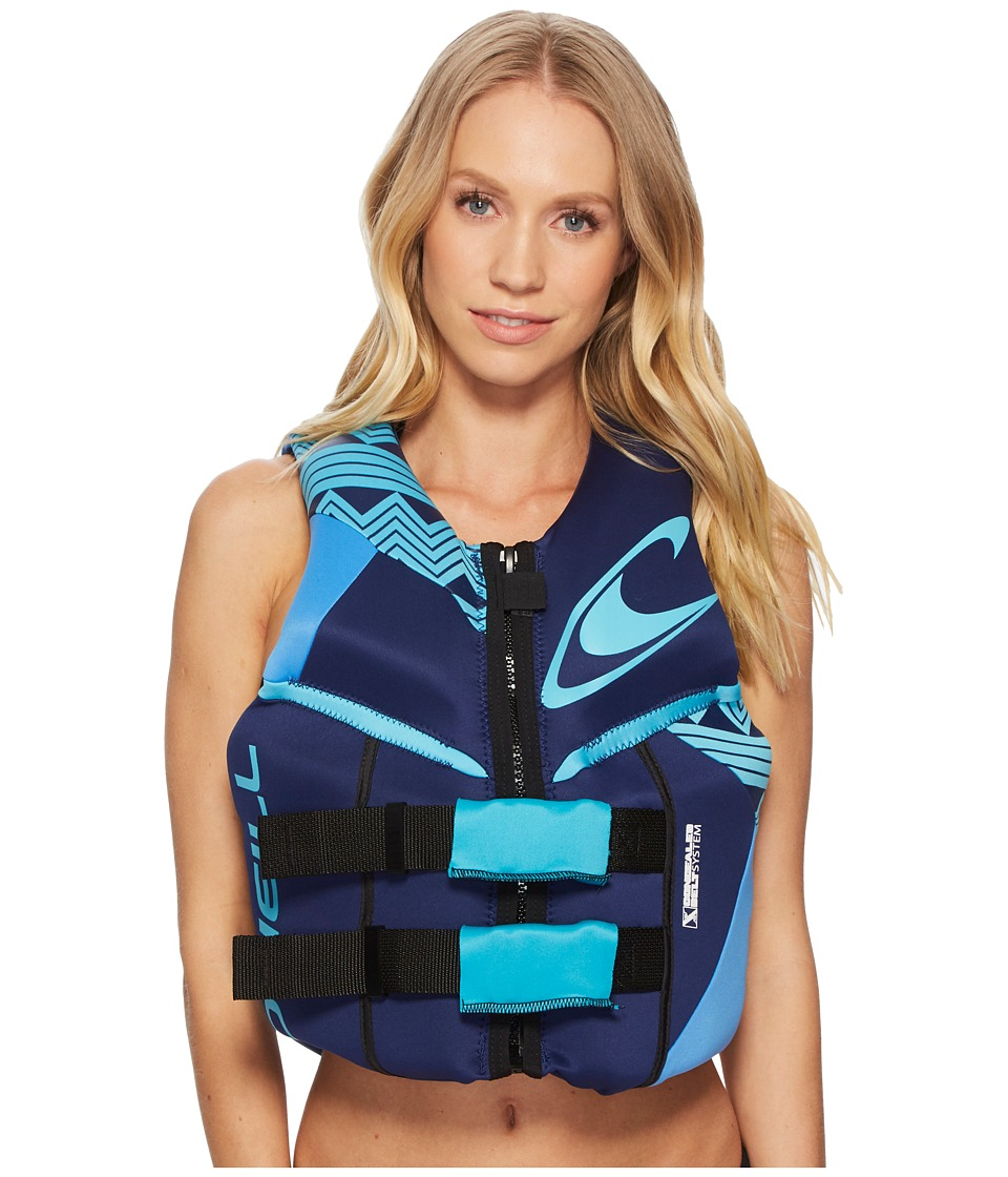 O'Neill Reactor USCG Vest (Navy/Rivieria/Turquoise)