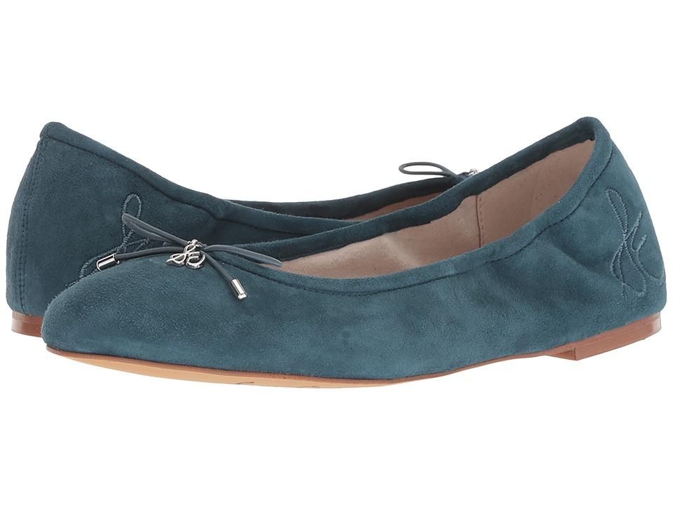 Sam Edelman Felicia (Petrol Blue Kid Suede Leather) Flats