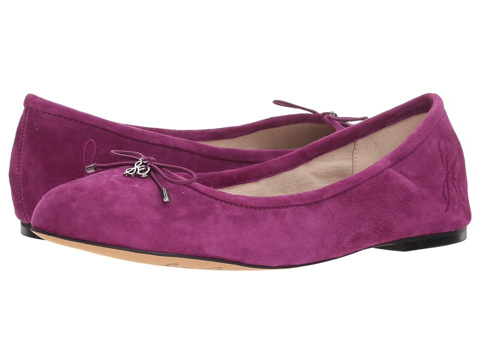 Sam Edelman Felicia (Purple Plum Kid Suede Leather) Flats
