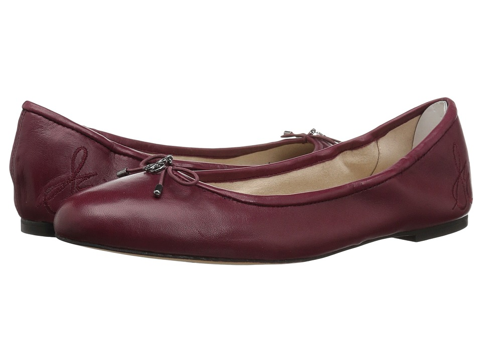 Sam Edelman Felicia (Beet Red Nappa Luva Leather) Flats