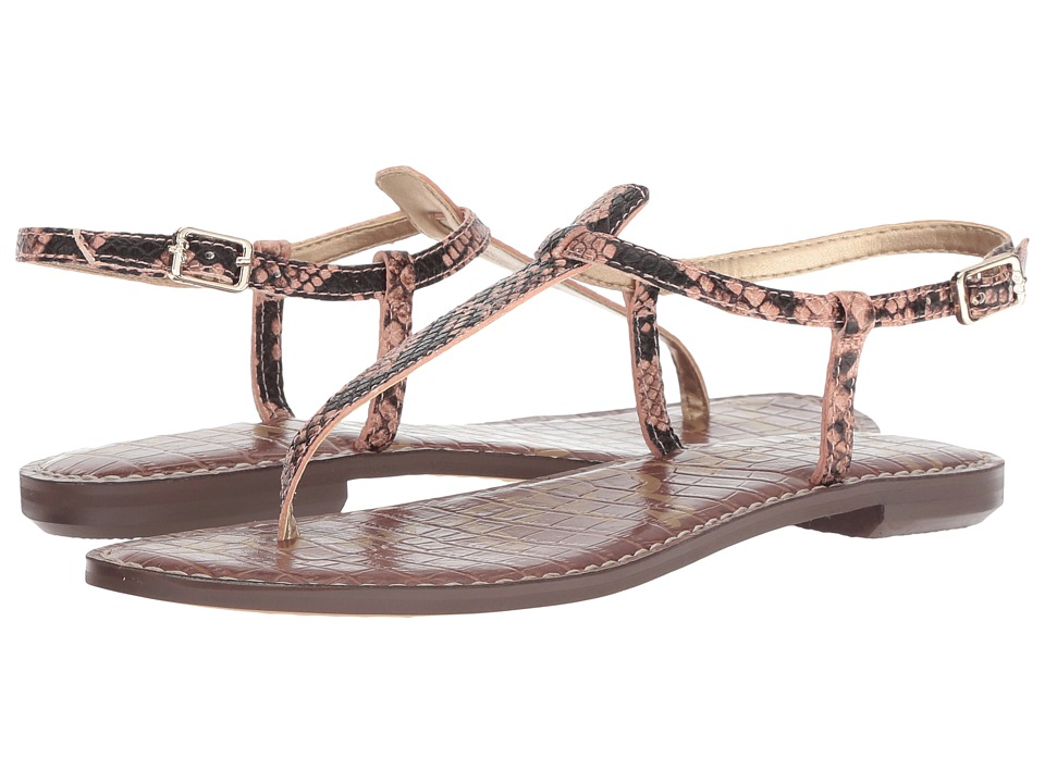 Sam Edelman Gigi (Dusty Rose Royal Snake Print Goat Leather) Sandals
