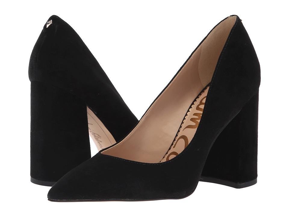 Sam Edelman Halton (Black Kid Suede Leather) Women's Shoes