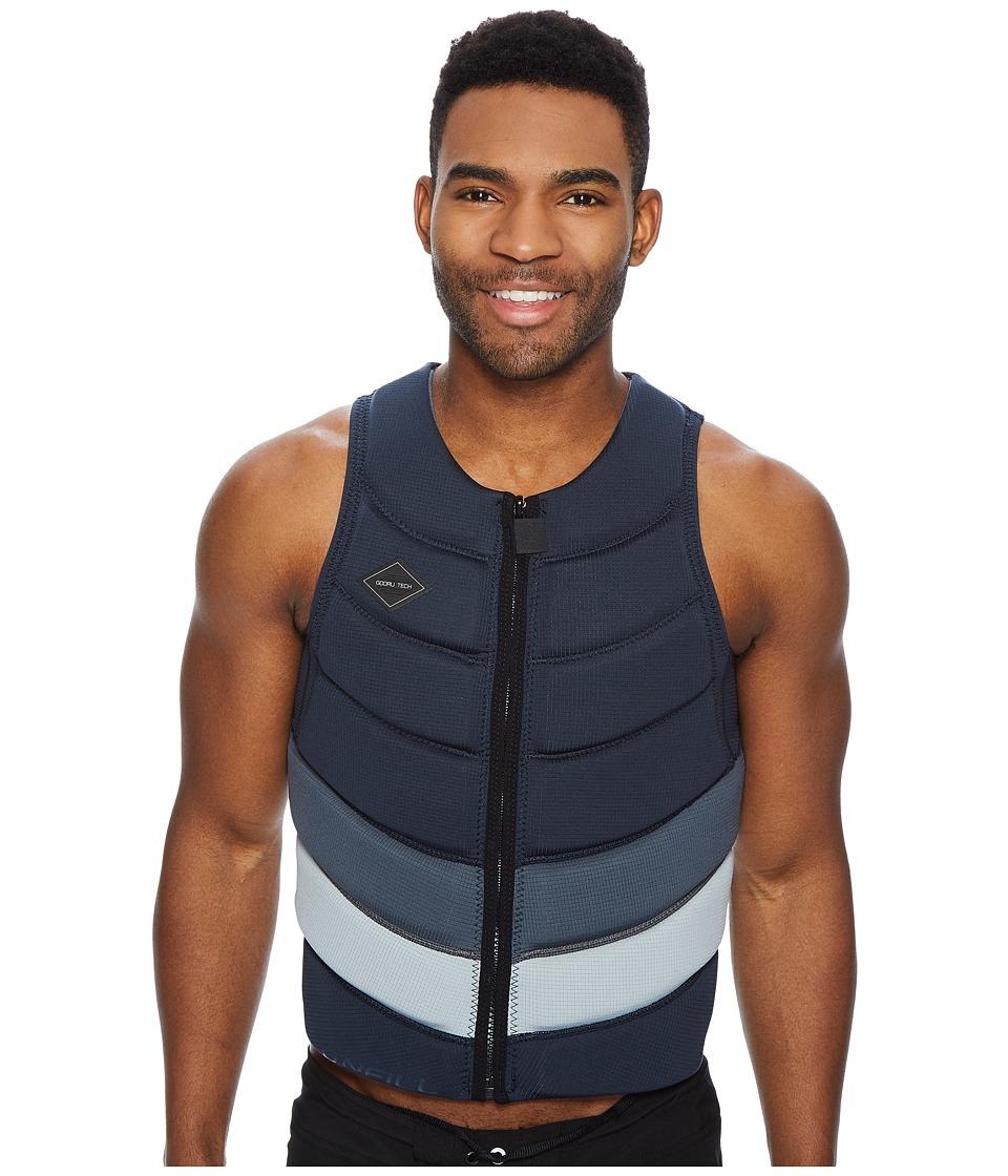 O'Neill Gooru Tech Front Zip Comp Vest (Slate/Graph/Cool Grey) Men's Swimwear