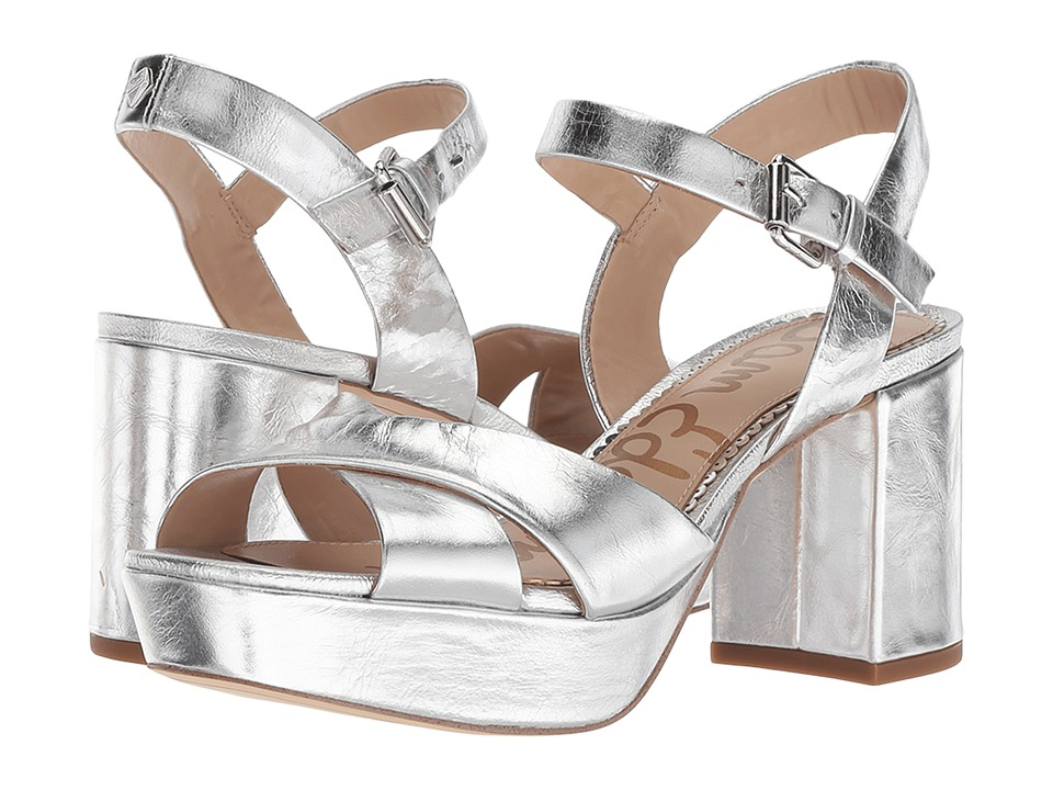 Sam Edelman Jolene (Soft Silver Distressed Metallic Leather) Women's Shoes