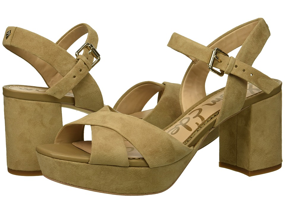 Sam Edelman Jolene (Oatmeal Kid Suede Leather) Women's Shoes