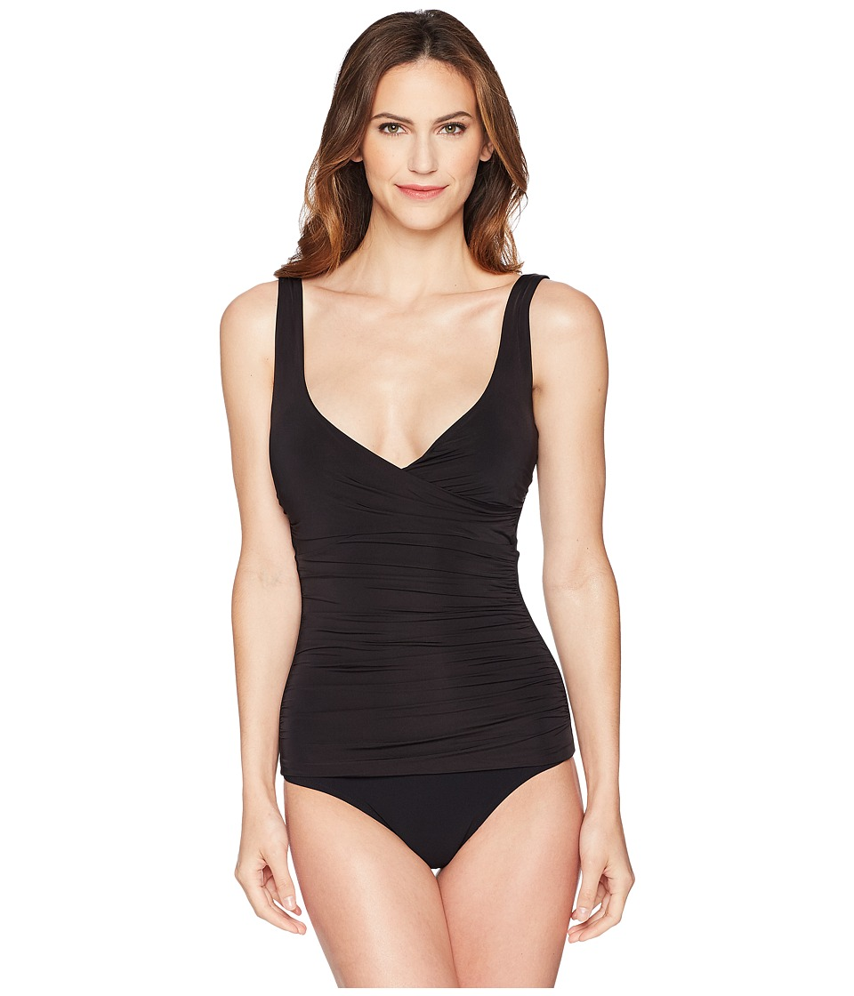 Heidi Klein - Body D-G Ruched One-Piece (Black) Womens Swimsuits One Piece