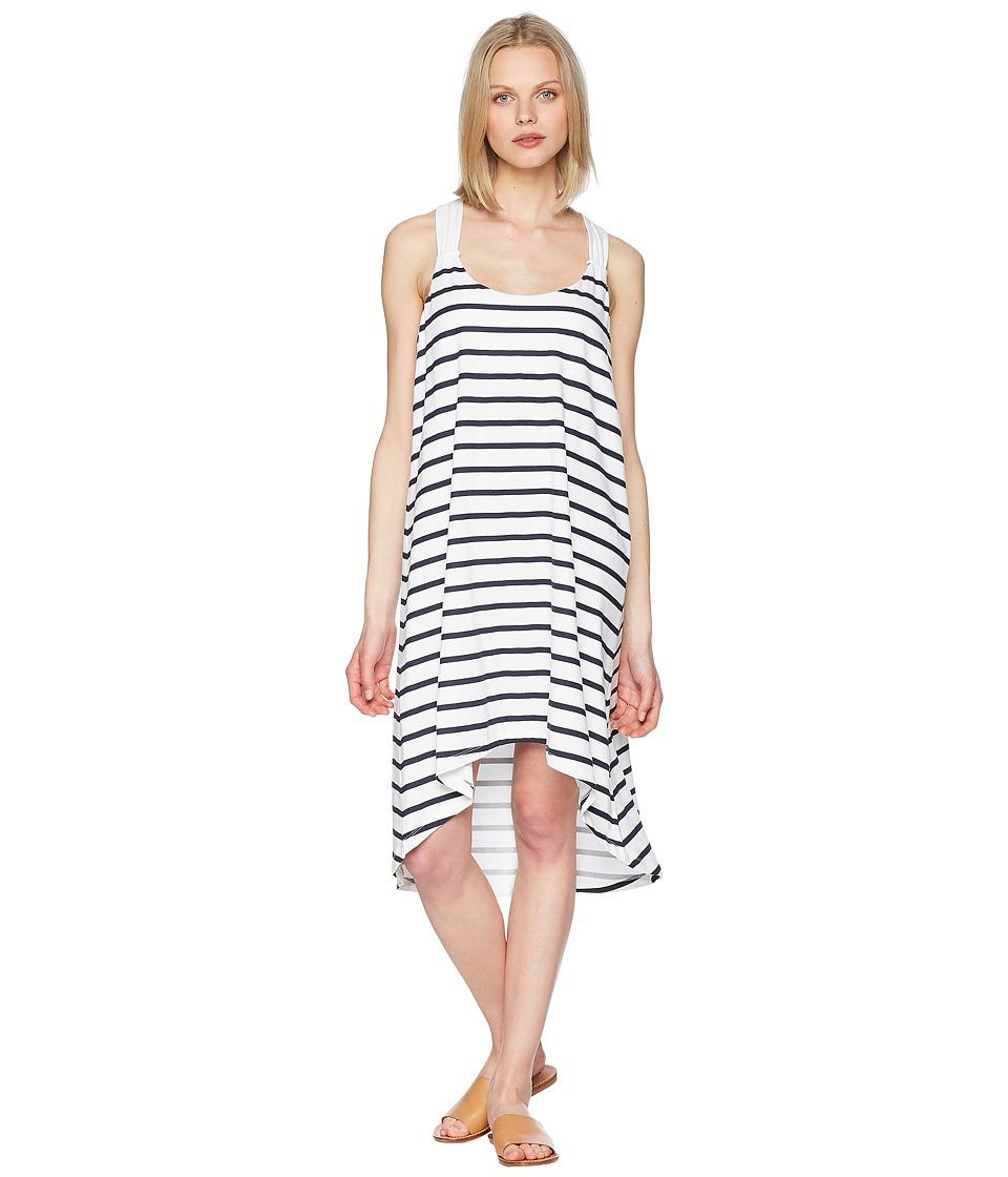 Heidi Klein - Core Twist Back Tapered Hem Dress (Stripe) Womens Swimwear