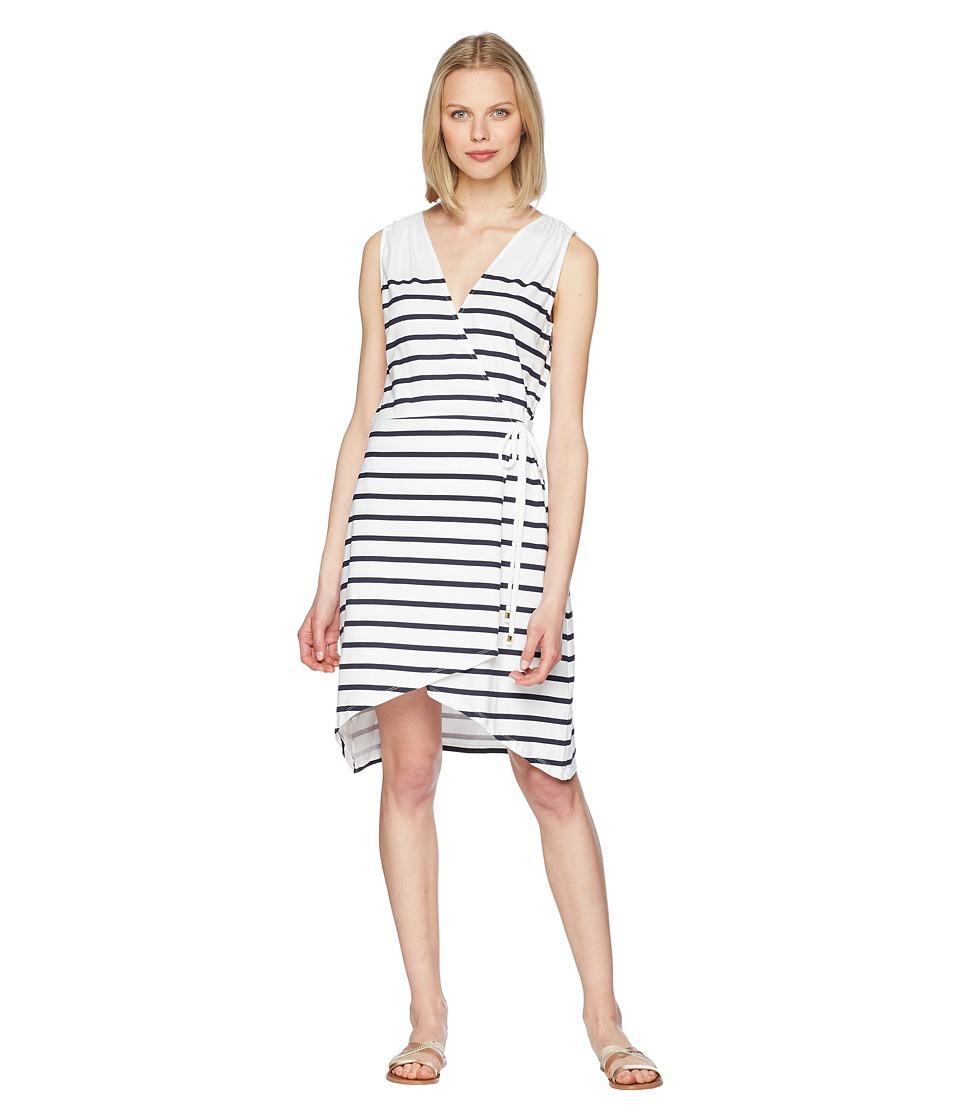 Heidi Klein - Core Wrap Dress (Stripe) Womens Swimwear