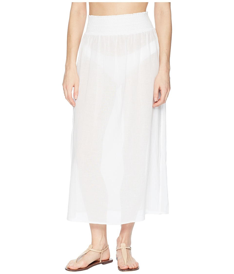 Heidi Klein - Seychelles Smocked Skirt (White) Womens Swimwear