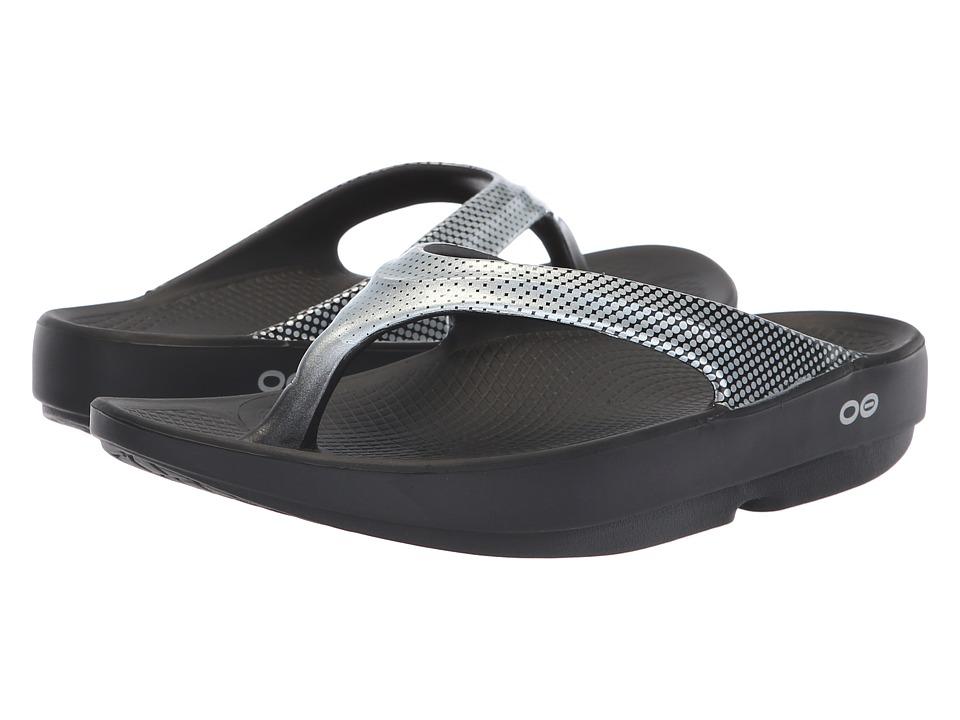 OOFOS Oolala Luxe (Platinum Pixel) Sandals