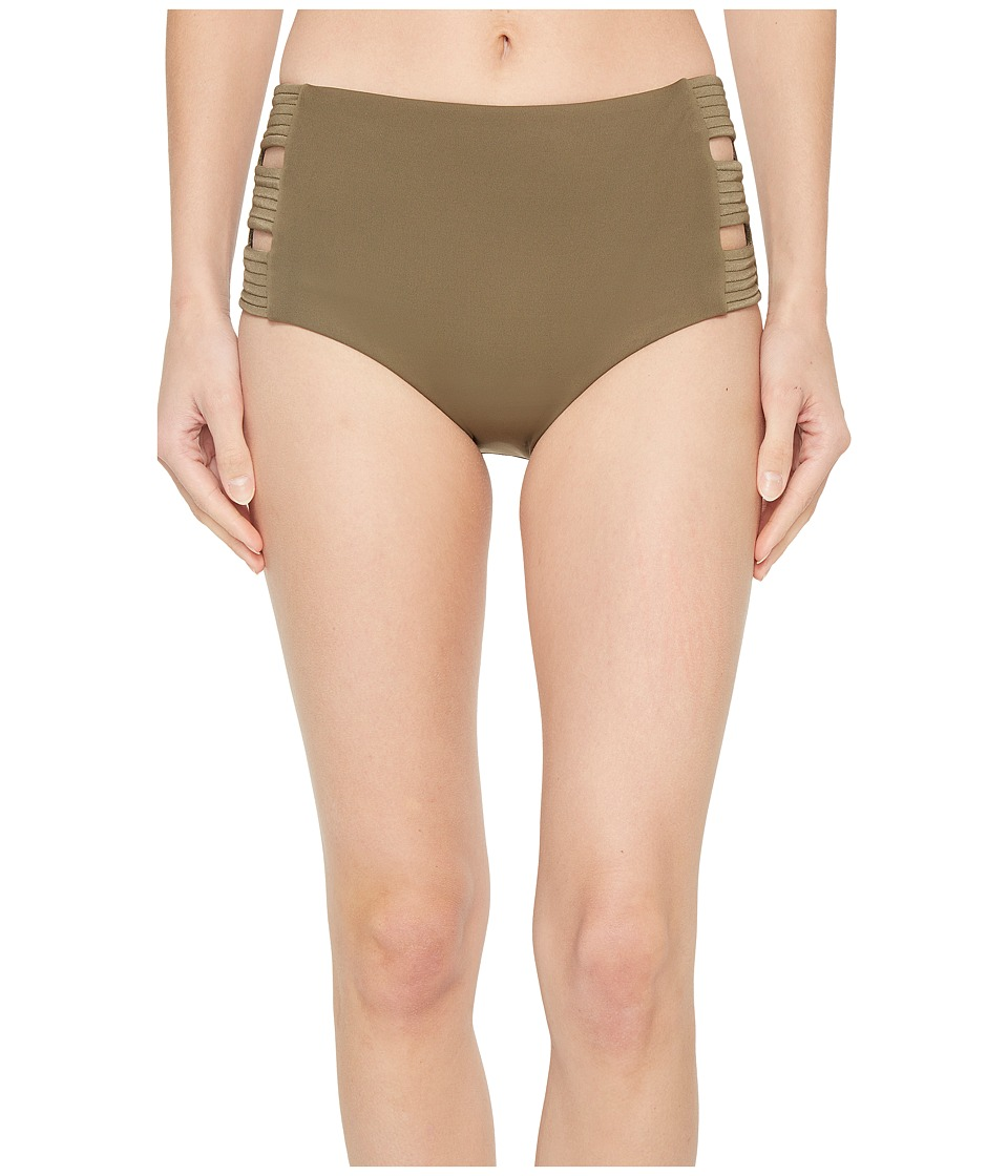 Seafolly High-Waisted Quilted Pant (Dark Olive) Women