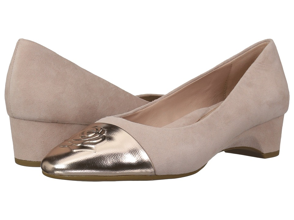 Taryn Rose Babe (Chai Metallic/Silky Suede) Women's Dress Flat Shoes