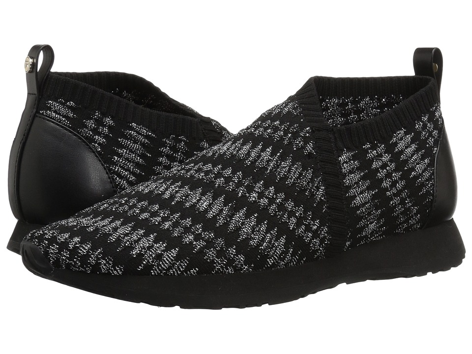 Taryn Rose Caren (Black/Silver Geo Knit) Women's Shoes