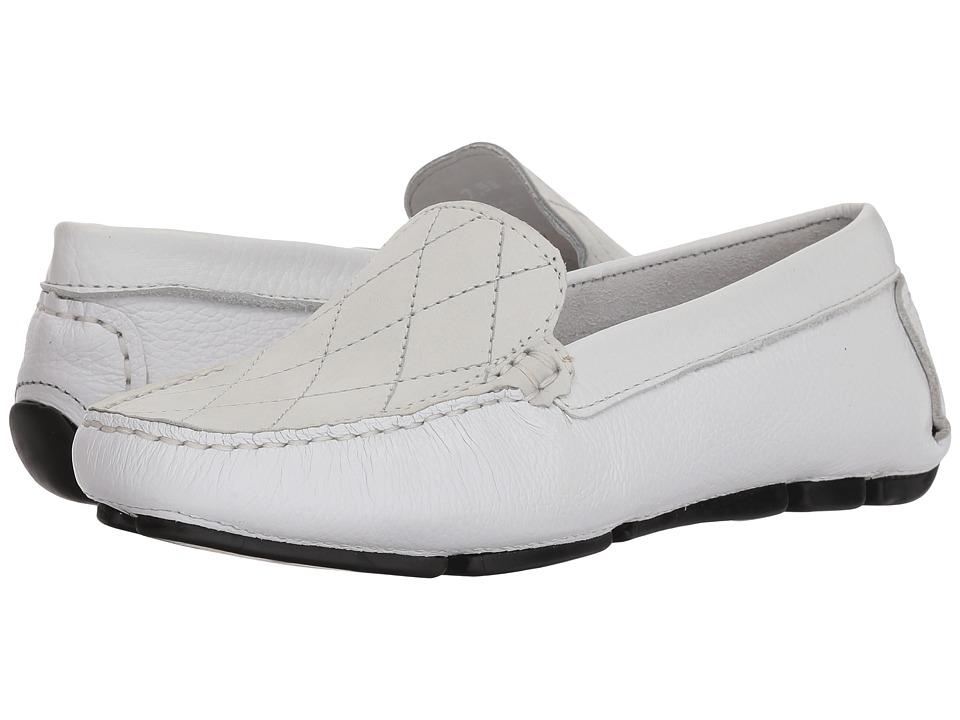 Massimo Matteo Cross Vamp Driver (Off-White) Slip-On Shoes