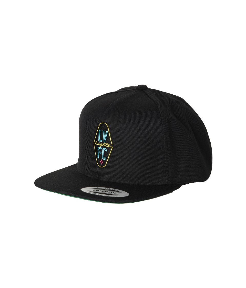 Las Vegas Lights F.C. - Snapback Hat (Black) Caps