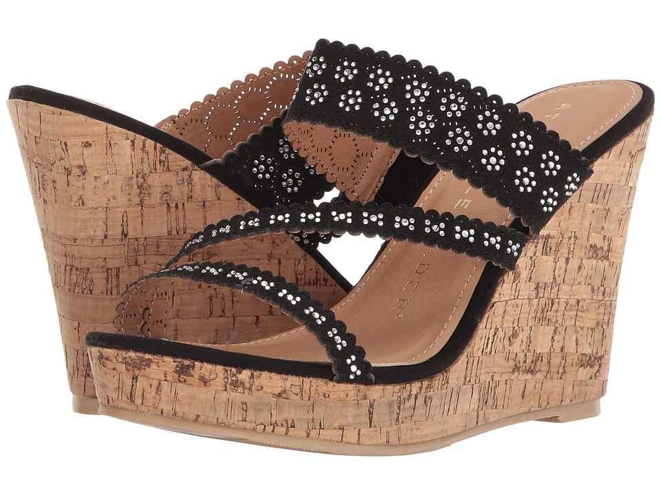 Athena Alexander - Aerin (Black) Womens Wedge Shoes