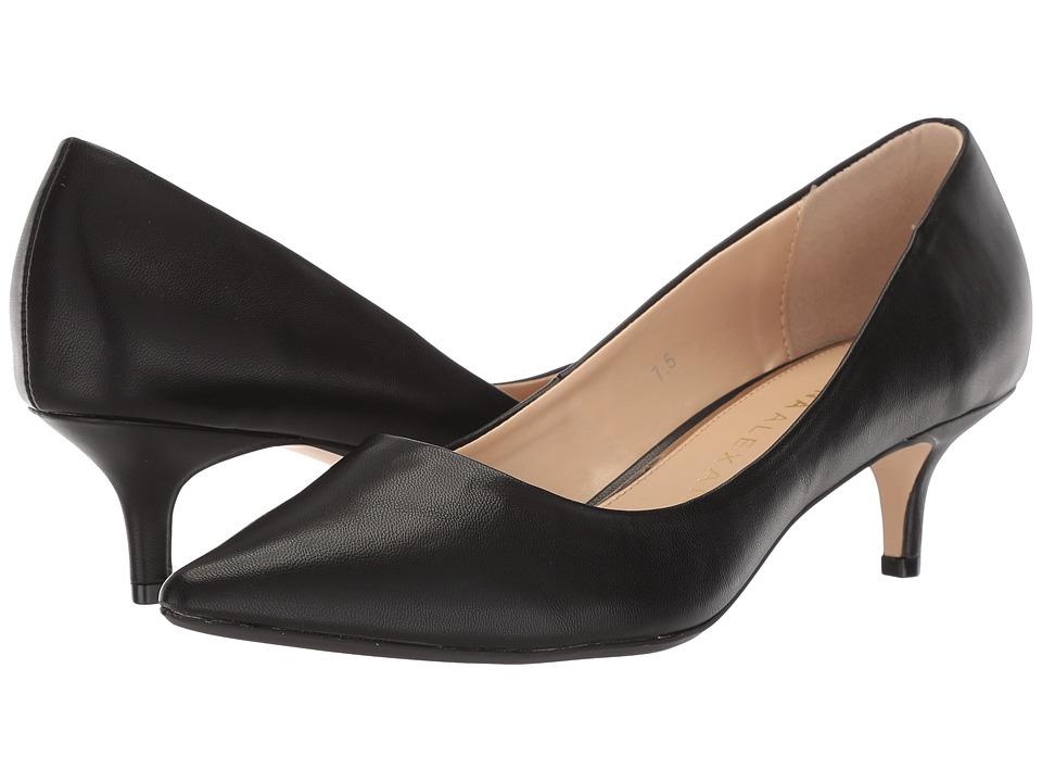 Athena Alexander Target (Black Leather) 1-2 inch heel Shoes