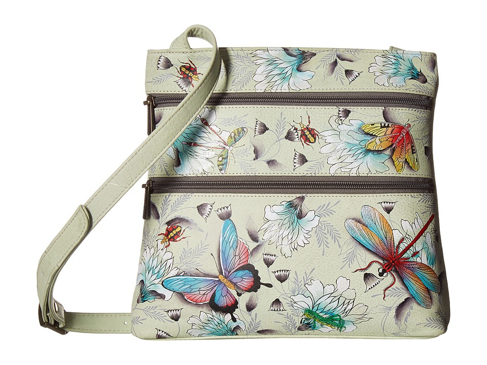 Anuschka Handbags - 447 Compact Crossbody Travel Organizer (Wondrous Wings) Cross Body Handbags