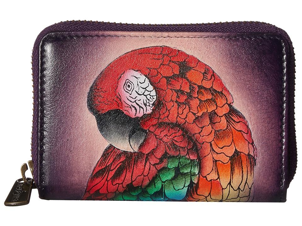 Anuschka Handbags - 1110 Credit And Business Card Holder (Rainforest Royalty) Coin Purse