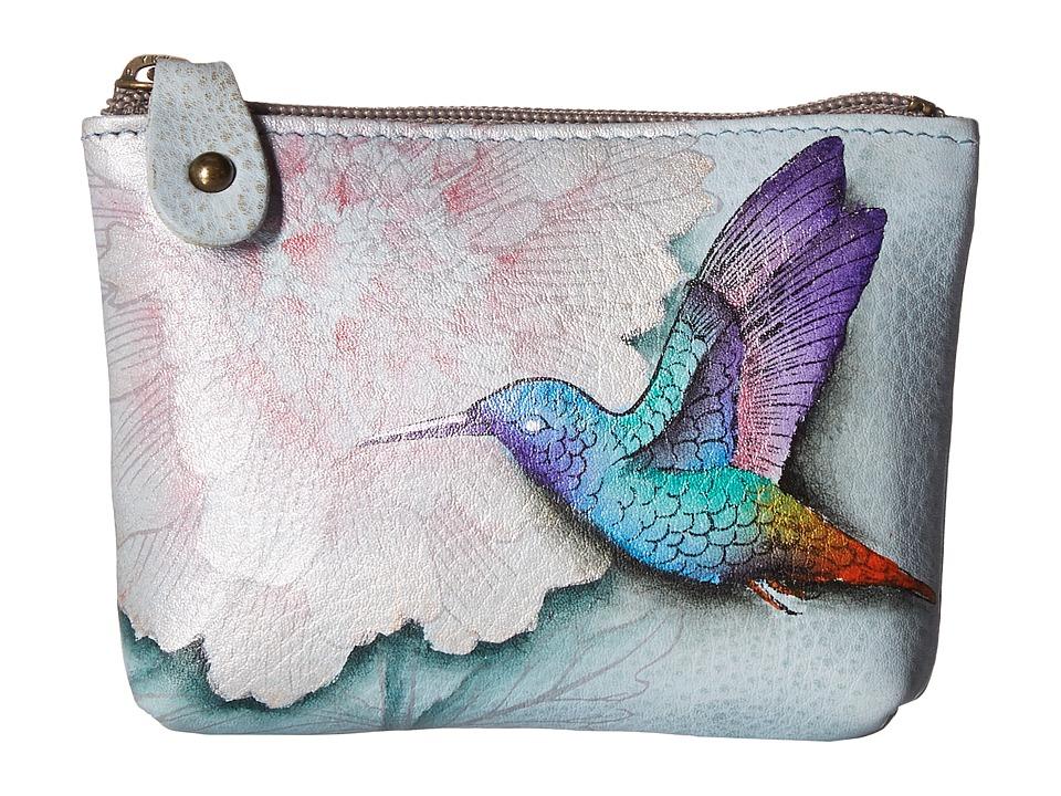 Image of Anuschka Handbags - 1031 Coin Pouch (Rainbow Birds) Handbags