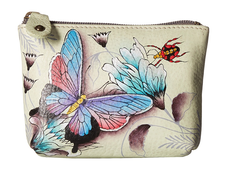 Image of Anuschka Handbags - 1031 Coin Pouch (Wondrous Wings) Handbags
