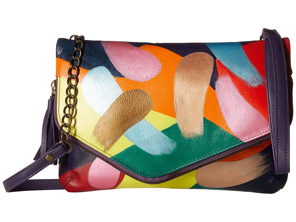 Anuschka Handbags - 607 Convertible Envelope Clutch Wristlet (Painterly Palette) Handbags