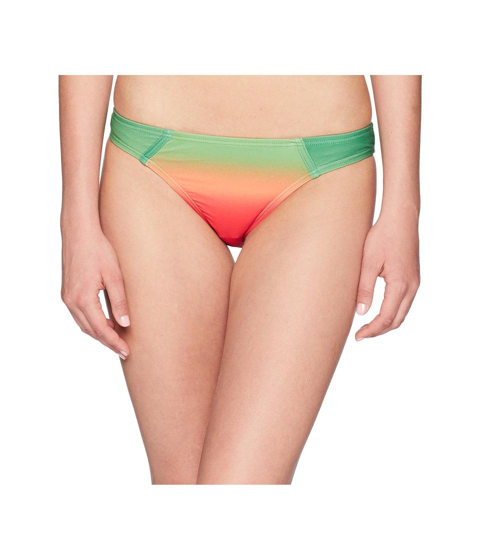 Unique Vintage - Bettina Low Waist Bottom (Watermelon Ombre) Womens Swimwear