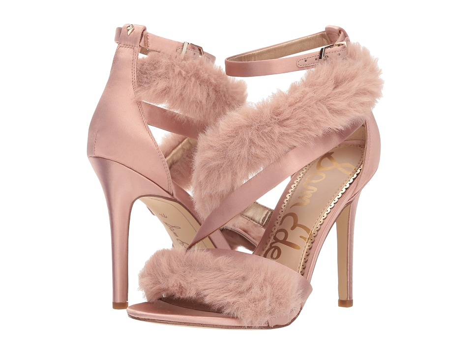 Sam Edelman Adelle (Crystal Pink Crystal Satin/Plush Fur) Women's Shoes