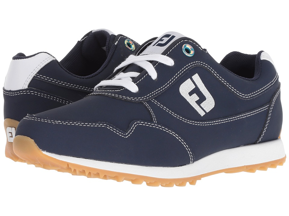 FootJoy - Sport Retro Spikeless Street Sneaker (All Over Navy) Womens Golf Shoes