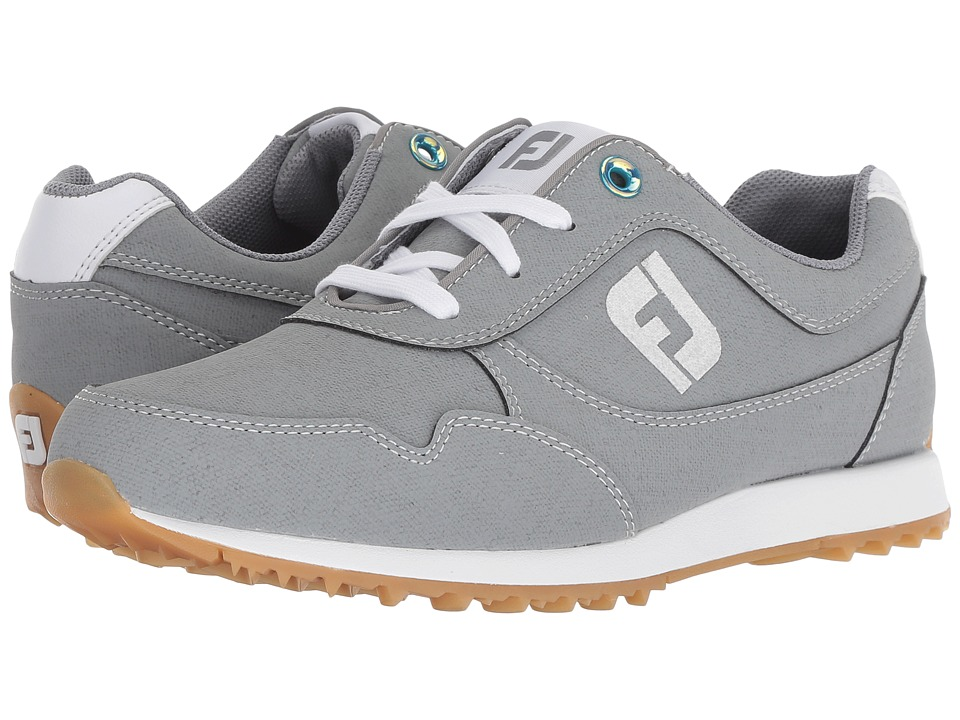 FootJoy Sport Retro Spikeless Street Sneaker (All Over Grey) Women's Golf Shoes