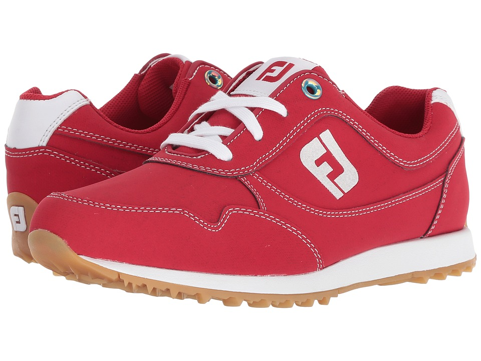 FootJoy Sport Retro Spikeless Street Sneaker (All Over Red) Women's Golf Shoes