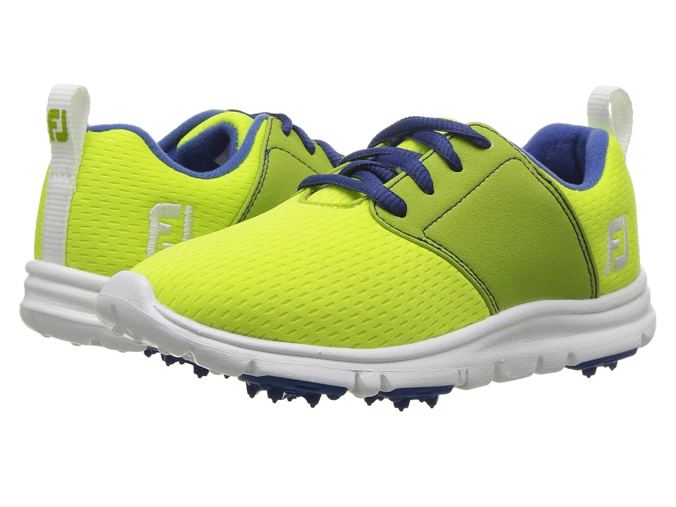 FootJoy - Enjoy Spikeless (Little Kid/Big Kid) (Lime/Sapphire Trim) Womens Golf Shoes